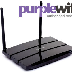 Purple Wifi Router